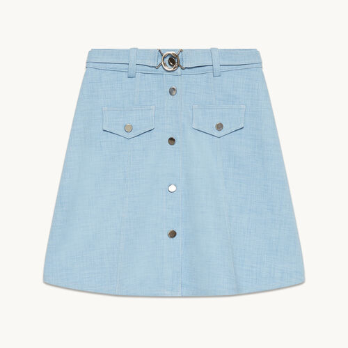 A-line skirt with belt - Skirts & Shorts - MAJE