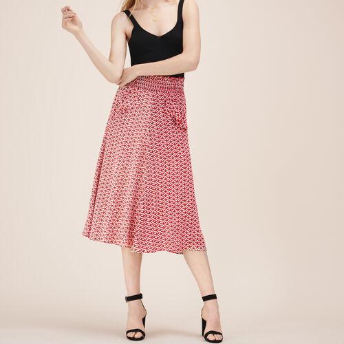 Printed midi skirt - Skirts & Shorts - MAJE