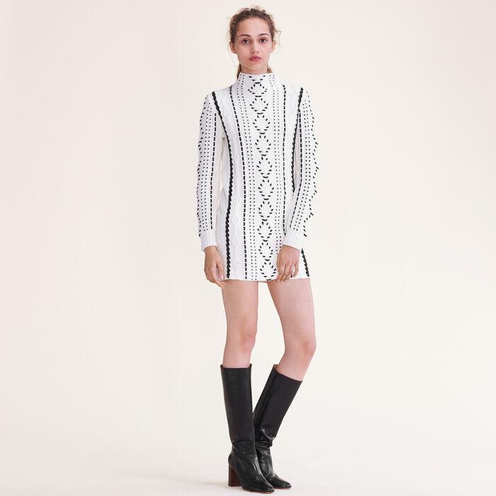 Cable knit dress -  - MAJE