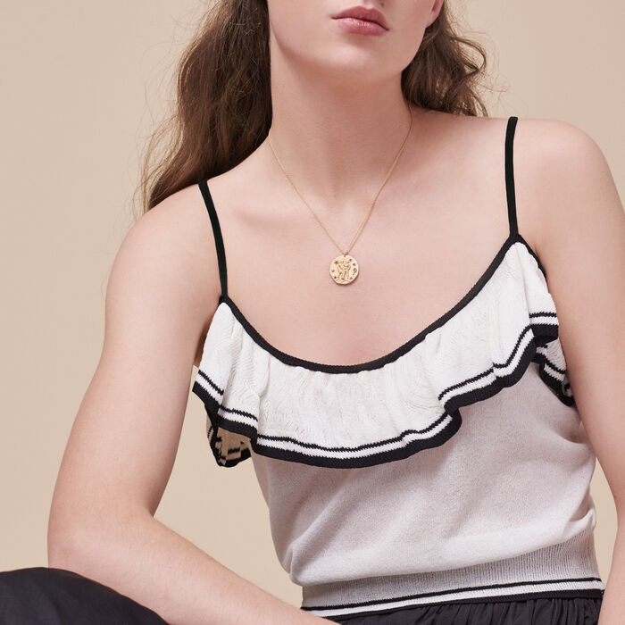 Frilled fine knit camisole - Tops - MAJE