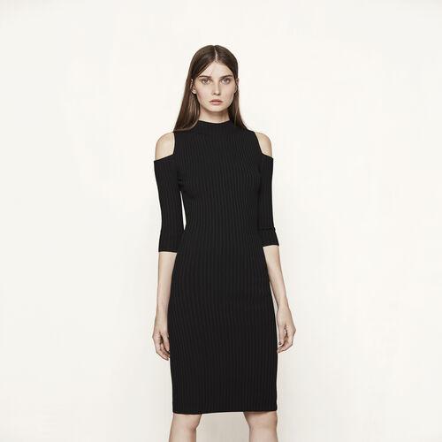 Close-fitting off the shoulder dress - Dresses - MAJE