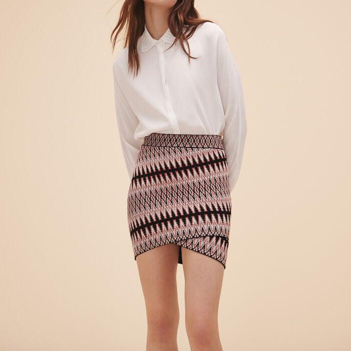 Short jacquard skirt - Skirts & Shorts - MAJE