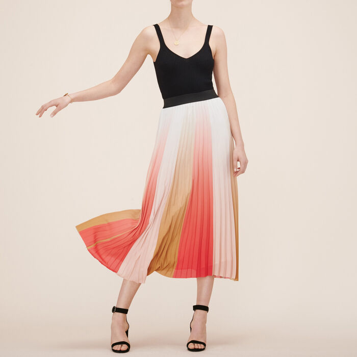 Pleated long skirt -  - MAJE