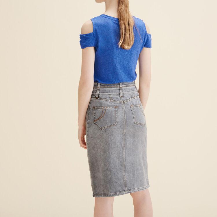 Denim pencil skirt - Skirts & Shorts - MAJE