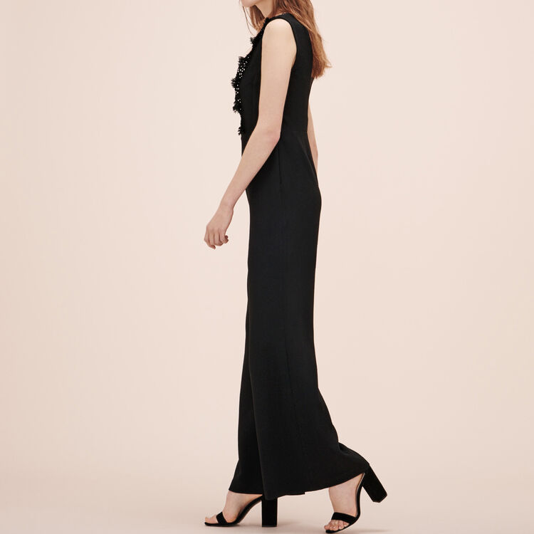 Jumpsuit with embroidery - Trousers - MAJE