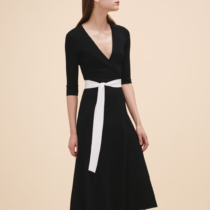 Long knitted dress -  - MAJE