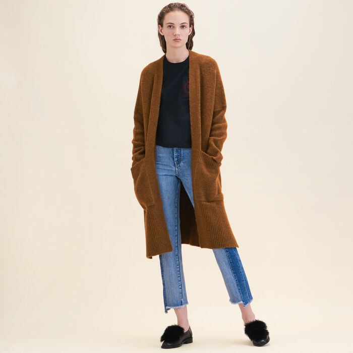 Long oversized cardigan - Knitwear - MAJE