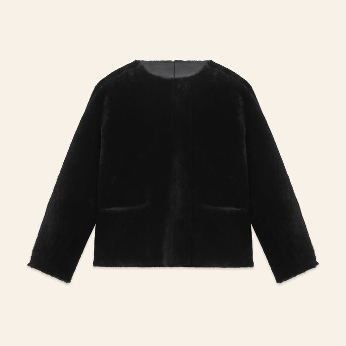 Reversible sheepskin jacket - Coats - MAJE