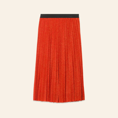 Lurex knit pleated skirt - Skirts & Shorts - MAJE