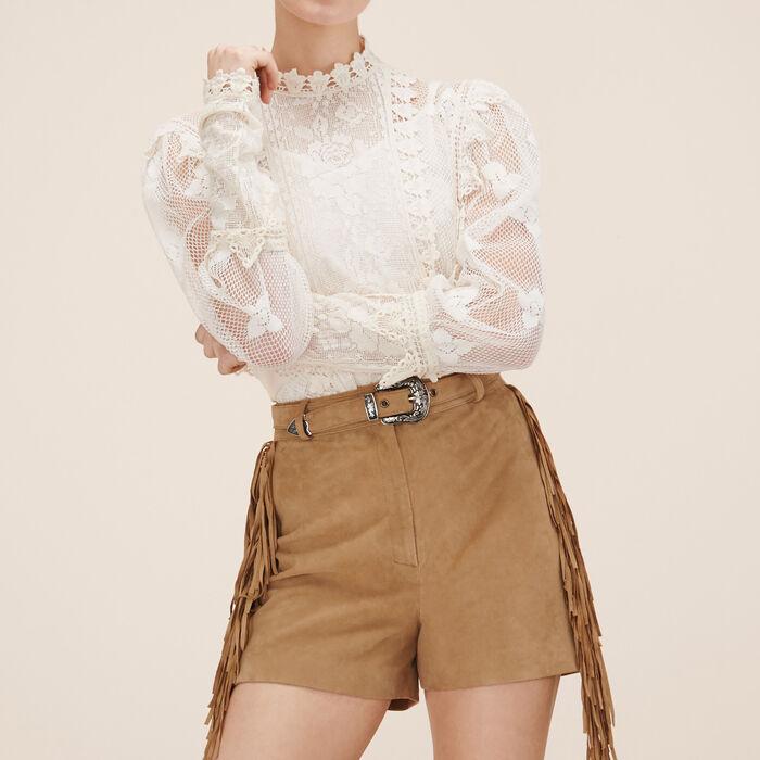 Suede shorts -  - MAJE