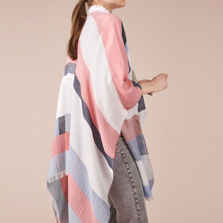 Lightweight poncho with graphic print - See all - MAJE