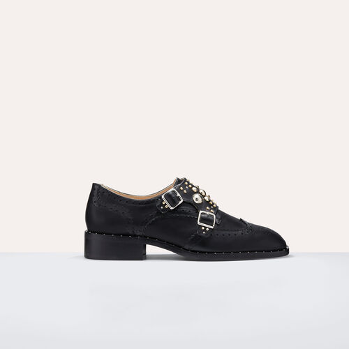 Derbies with studs - Shoes - MAJE