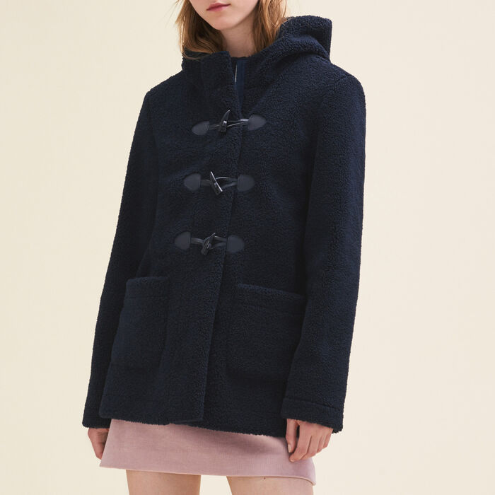 Faux fur duffle coat - Coats - MAJE