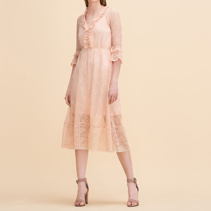 Long lace dress -  - MAJE