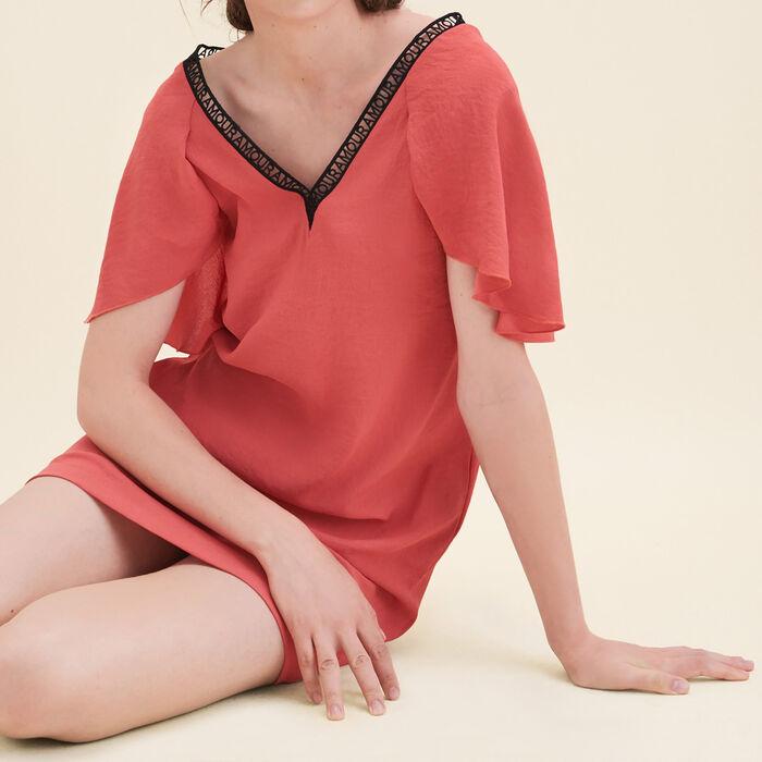 Crêpe straight-cut dress -  - MAJE