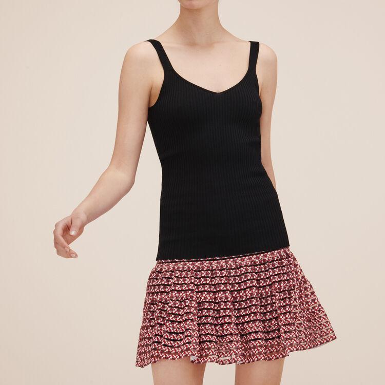Ribbed knit vest top - Knitwear - MAJE