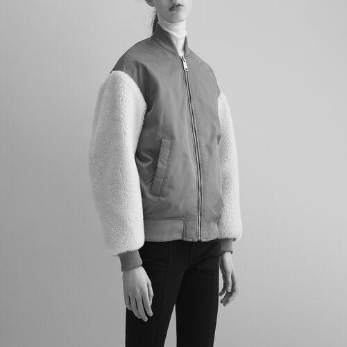 Sheepskin jacket - Maje x Schott - MAJE