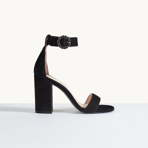 Suede heeled sandals - Shoes - MAJE