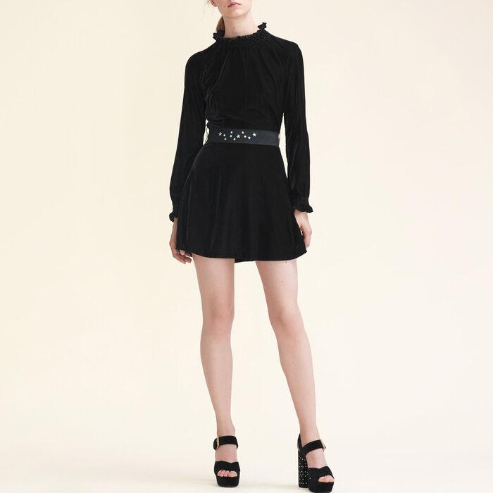 Velvet dress with belt - This week - MAJE