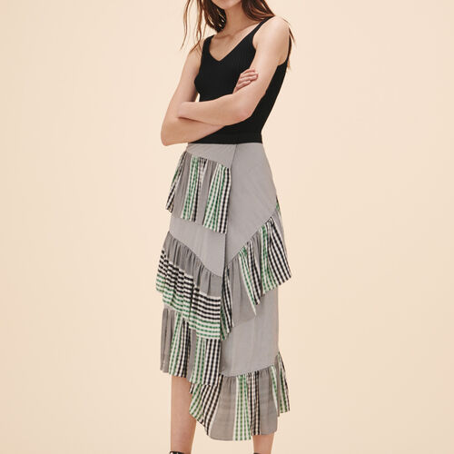 Midi frilled skirt - Skirts & Shorts - MAJE