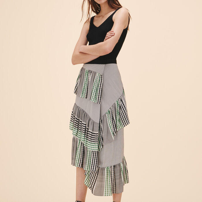 Midi frilled skirt -  - MAJE