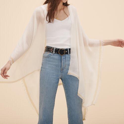 Wool blend poncho - See all - MAJE