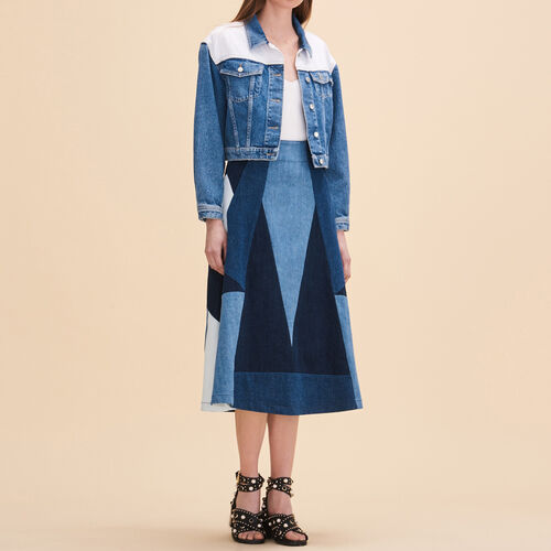 Denim flared skirt - Skirts & Shorts - MAJE