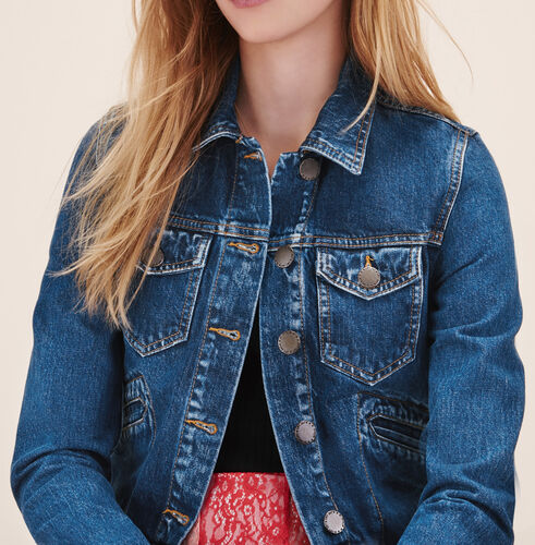 Short denim jacket - Jackets & Bombers - MAJE