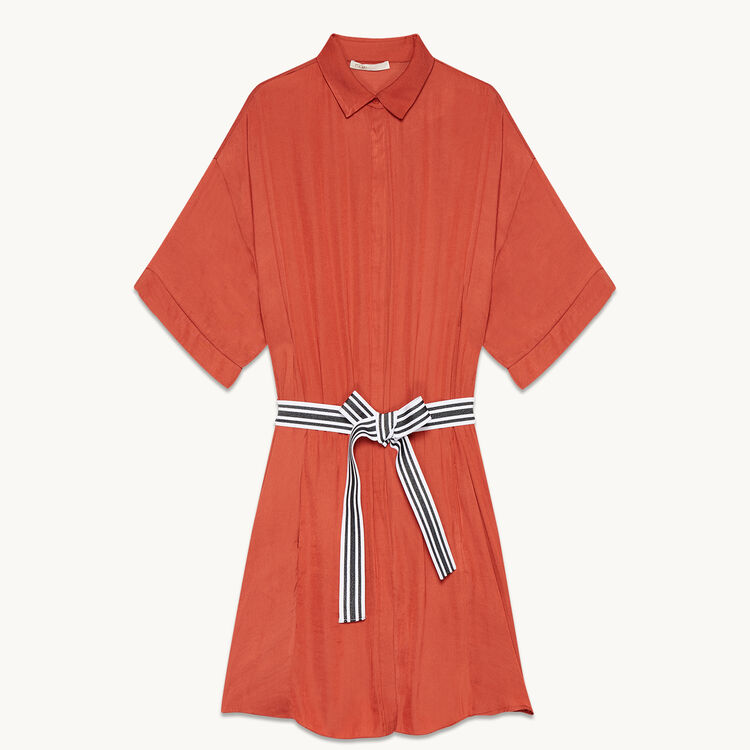 Floaty shirt dress - Dresses - MAJE