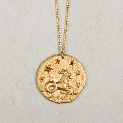 Capricorn zodiac sign necklace - Jewelry - MAJE