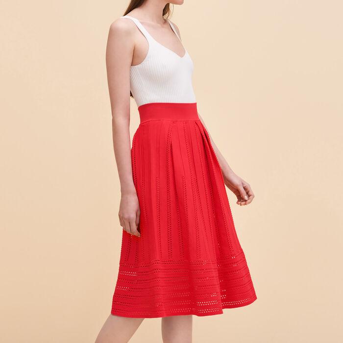Openwork knit skirt -  - MAJE