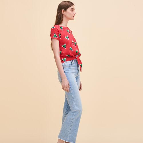 Parrot print T-shirt - Tops - MAJE