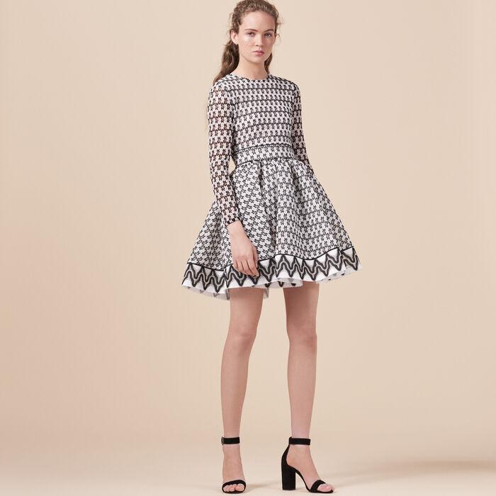 Lace skater dress -  - MAJE