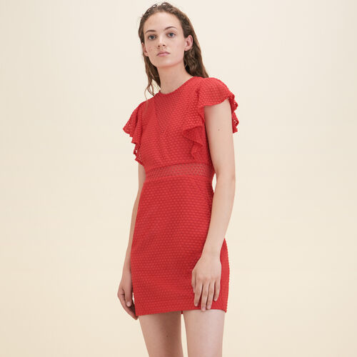 Straight decorative lace dress - Dresses - MAJE