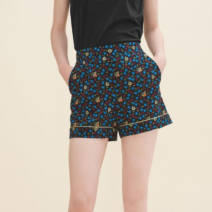 Floral print shorts -  - MAJE