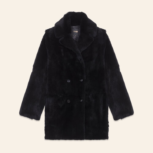 Rabbit coat - Coats - MAJE