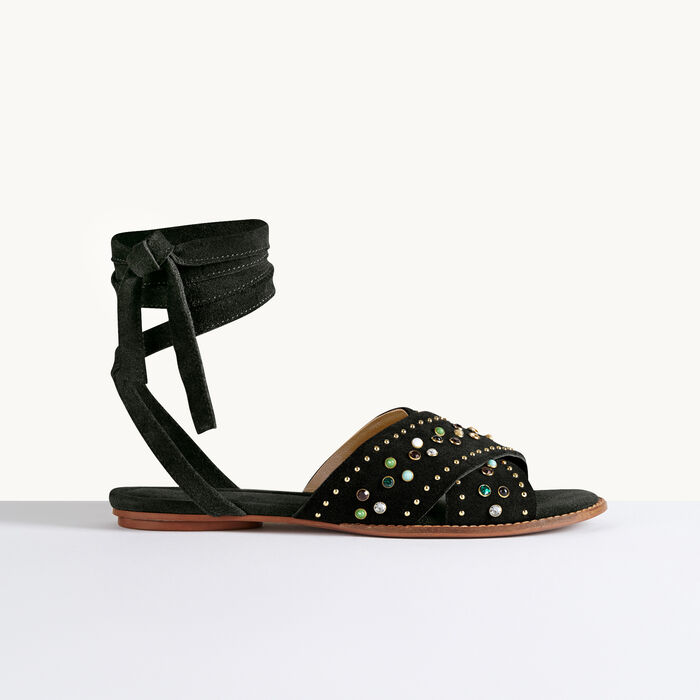 Flat sandals with studs -  - MAJE