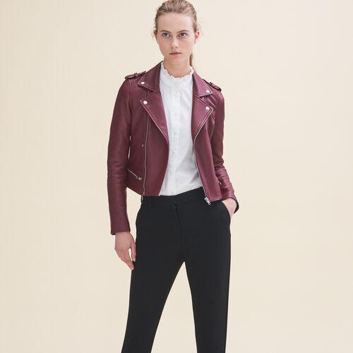 Leather jacket - Jackets & Bombers - MAJE