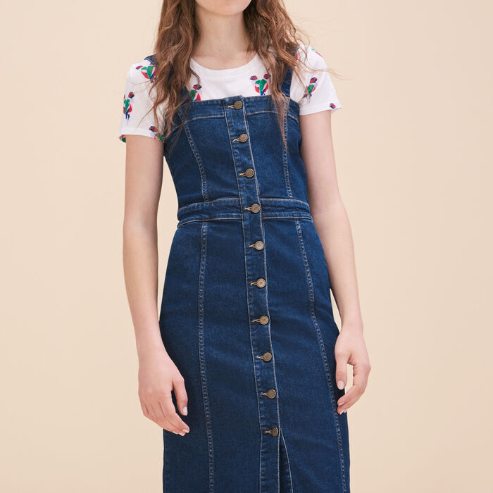 Denim strappy dress - Dresses - MAJE