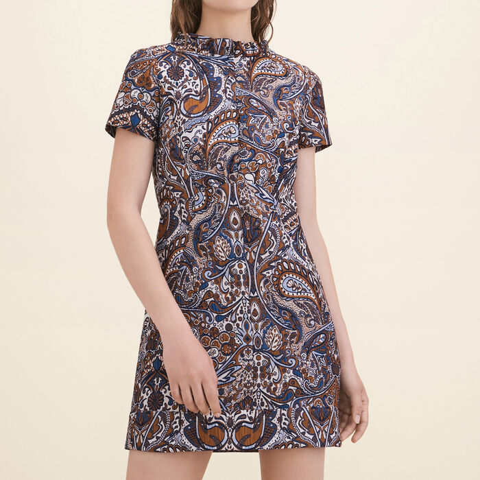 Jacquard straight-cut dress -  - MAJE