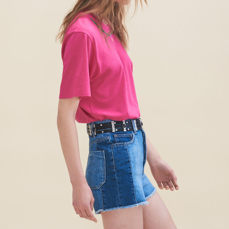 Embroidered T-shirt Friday - Tops - MAJE