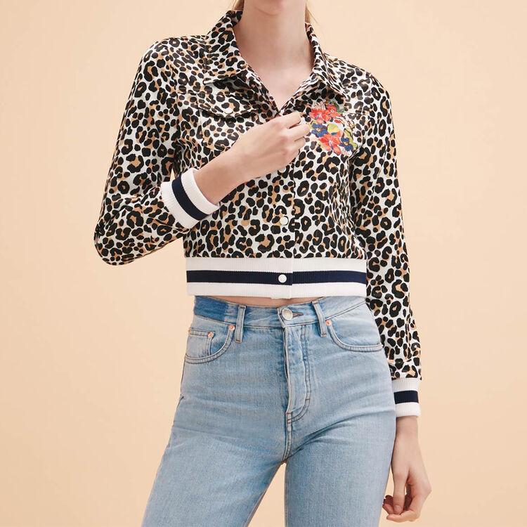 Short leopard-print jacket - Blazers - MAJE