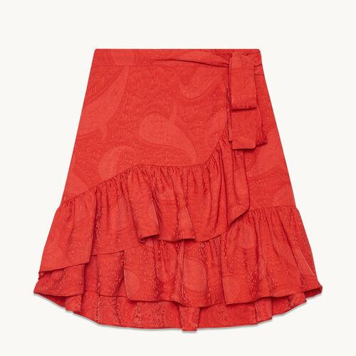 Wraparound skirt with frills - Skirts & Shorts - MAJE