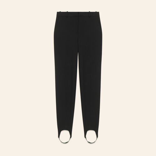 Straight-cut crepe stirrup trousers - Trousers - MAJE
