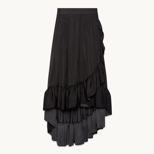 Long skirt with frills - Skirts & Shorts - MAJE