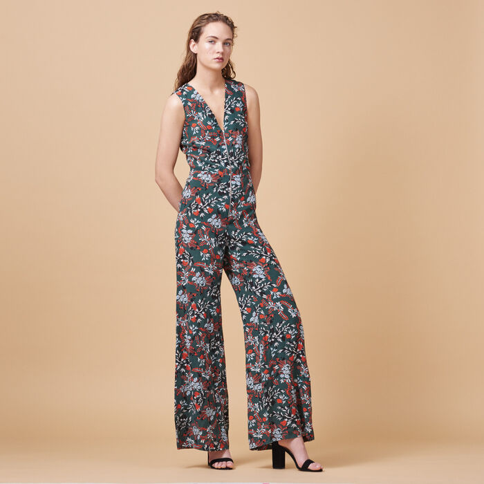 Printed jumpsuit -  - MAJE