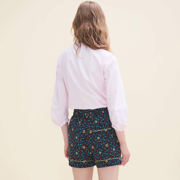 Loose-fitting poplin shirt - Tops - MAJE