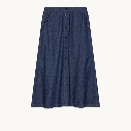 Denim midi skirt - Skirts & Shorts - MAJE