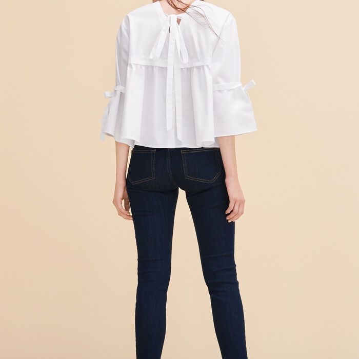 Cotton poplin top -  - MAJE