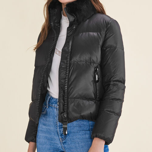 Cropped quilted down jacket - Coats - MAJE